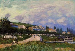 The Laundry | Alfred Sisley | Painting Reproduction