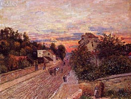 Sunset at Port-Marly, 1876 von Alfred Sisley | Gemälde-Reproduktion