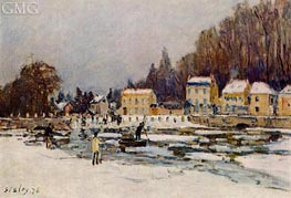 The Blocked Seine at Port-Marly, 1876 von Alfred Sisley | Gemälde-Reproduktion