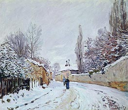 Road under Snow, Louveciennes | Alfred Sisley | Painting Reproduction