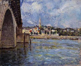 The Bridge at Saint-Cloud, 1877 by Alfred Sisley | Painting Reproduction