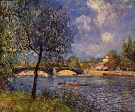 Rowers | Alfred Sisley | Painting Reproduction