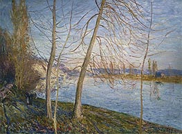 Winter Morning - Veneux | Alfred Sisley | Painting Reproduction