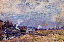 The Saine at Grenelle, 1878 von Alfred Sisley | Gemälde-Reproduktion