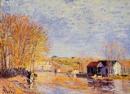 High Waters at Moret-sur-Loing, 1879 von Alfred Sisley | Gemälde-Reproduktion