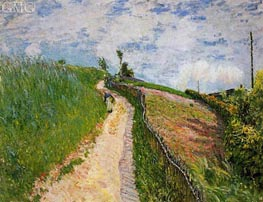 Path Leading to Ville D'Avray, 1879 von Alfred Sisley | Gemälde-Reproduktion