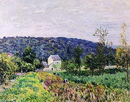 Autumn Evening on the Outskirts of Paris, 1879 by Alfred Sisley | Painting Reproduction