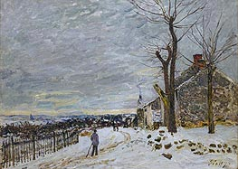 Snow at Veneux-Nadon, 1880 by Alfred Sisley | Painting Reproduction