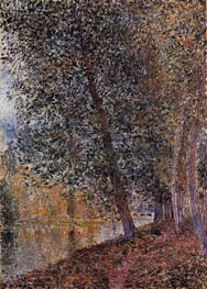 The Banks of the Loing, Autumn, 1880 von Alfred Sisley | Gemälde-Reproduktion