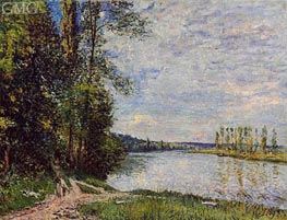 The Riverside Road from Veneux to Thomery, 1880 von Alfred Sisley | Gemälde-Reproduktion
