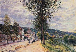 Street Entering the Village, 1880 von Alfred Sisley | Gemälde-Reproduktion