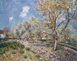 Springtime at Veneux, 1880 by Alfred Sisley | Painting Reproduction