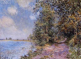 An August Afternoon near Veneux, 1881 von Alfred Sisley | Gemälde-Reproduktion