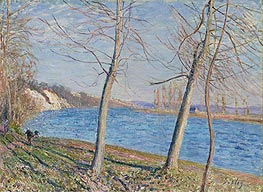 The Banks of the River at Veneux, 1881 by Alfred Sisley | Painting Reproduction