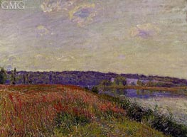 The Fields and Hills of Veneux-Nadon, 1881 by Alfred Sisley | Painting Reproduction