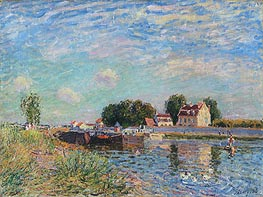 The Loing at Saint-Mammes, 1885 von Alfred Sisley | Gemälde-Reproduktion