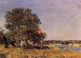 The Plain of Thomery and the Village of Champagne | Alfred Sisley | Gemälde Reproduktion
