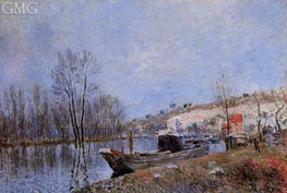 The Banks of the Loing towards Moret | Alfred Sisley | Gemälde Reproduktion
