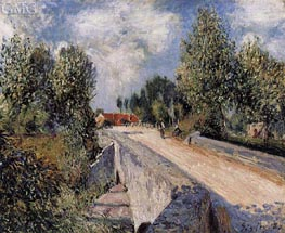 Bridge over the Orvanne near Moret, 1883 by Alfred Sisley | Painting Reproduction