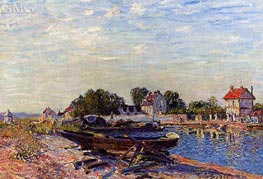 The Loing at Saint-Mammes | Alfred Sisley | Gemälde Reproduktion