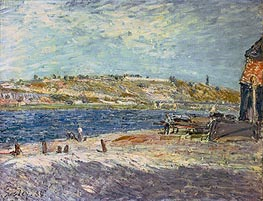 River Banks at Saint-Mammes, 1884 by Alfred Sisley | Painting Reproduction