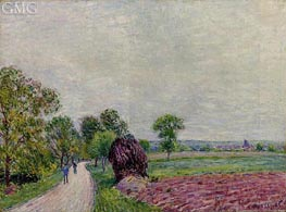 The Countryside near Moret, 1885 by Alfred Sisley | Painting Reproduction