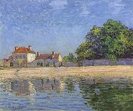 Banks of the Loing, Saint-Mammes, 1885 by Alfred Sisley | Painting Reproduction