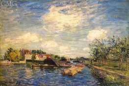 By the Loing, 1885 by Alfred Sisley | Painting Reproduction