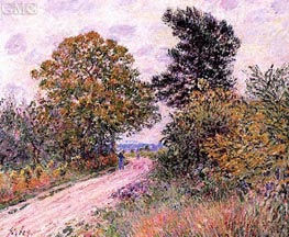 The Edge of the Fontainbleau Forest - Morning | Alfred Sisley | Gemälde Reproduktion
