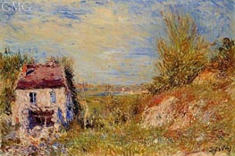 The Abandoned House, c.1886 von Alfred Sisley | Gemälde-Reproduktion