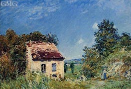 The Abondoned House, 1887 by Alfred Sisley | Painting Reproduction