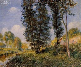 The Banks of the Orvanne | Alfred Sisley | Gemälde Reproduktion