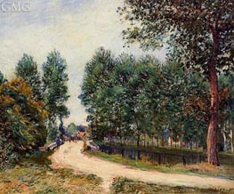 The Path from Saint-Mammes, Morning, 1890 von Alfred Sisley | Gemälde-Reproduktion