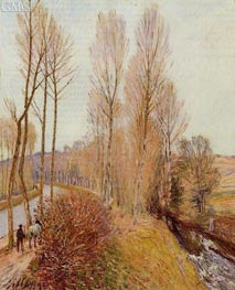 Path along the Loing Canal, 1891 von Alfred Sisley | Gemälde-Reproduktion