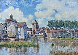 Moret-sur-Loing, 1891 by Alfred Sisley | Painting Reproduction
