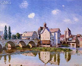 The Moret Bridge in the Sunlight | Alfred Sisley | Painting Reproduction