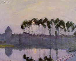 Setting Sun at Moret | Alfred Sisley | Painting Reproduction