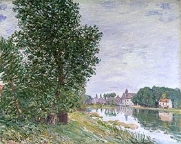 At Moret-sur-Loing, 1892 by Alfred Sisley | Painting Reproduction
