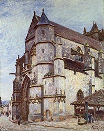 The Church at Moret, Rainy Morning | Alfred Sisley | Painting Reproduction