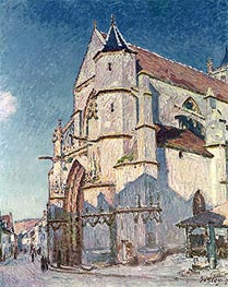 The Church at Moret, 1894 by Alfred Sisley | Painting Reproduction