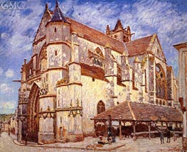The Church at Moret, Afternoon, 1894 by Alfred Sisley | Painting Reproduction