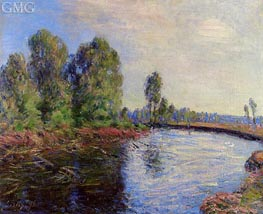 The Banks of the Loing, 1896 by Alfred Sisley | Painting Reproduction