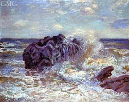 The Wave: Lady's Cove, Landland Bay, 1897 by Alfred Sisley | Painting Reproduction