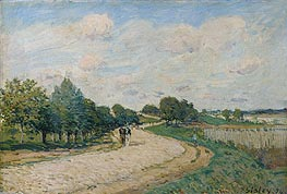 The Road to Mantes, 1874 by Alfred Sisley | Painting Reproduction