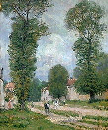 The Road to Versailles, 1875 by Alfred Sisley | Painting Reproduction