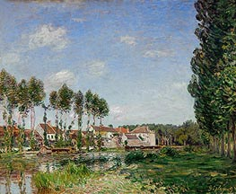 Moret, Banks of the Loing, 1892 by Alfred Sisley | Painting Reproduction