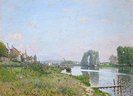 L'Isle Saint-Denis, 1872 by Alfred Sisley | Painting Reproduction