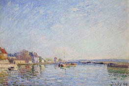 Canal du Loing, 1884 by Alfred Sisley | Painting Reproduction