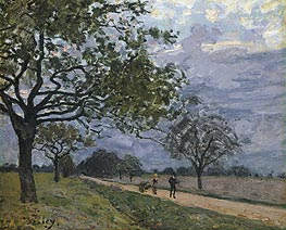 The Road from Versailles to Louveciennes, c.1879 von Alfred Sisley | Gemälde-Reproduktion