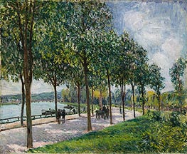 Allée of Chestnut Trees, 1878 by Alfred Sisley | Painting Reproduction